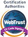 Certification Webtrust Extended Validation Code Signing