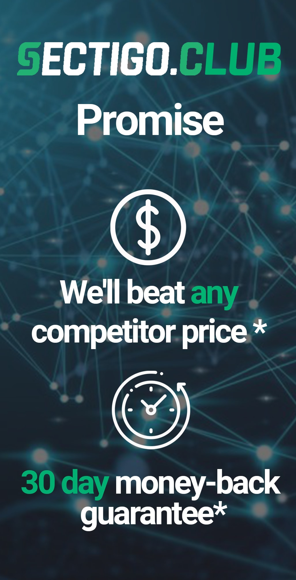 30 day refund guarantee * | We'll beat any price by 10% *